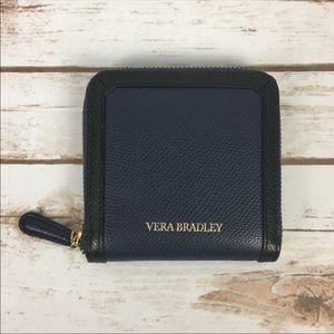 Vera Bradley Black & Navy Blue Wallet